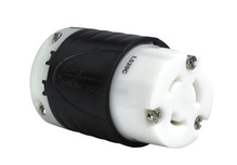 20 Amp NEMA Connector L520 - Black Back, White Front Body