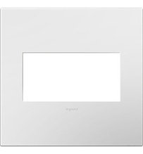 adorne® Gloss White-on-White Two-Gang Screwless Wall Plate