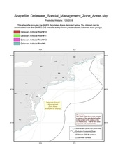 This is the chart for the Delaware Special Management Zone Areas for Recreational Fishermen.