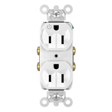 15A, 125V Half-Controlled Plug Load Controllable Receptacle, White