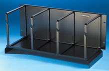 Bend Limiting Cable Management Panel - 7 in H x 7 in D rings with waterfall - 8.34 in H x 19 in W - 4 rack units - black
