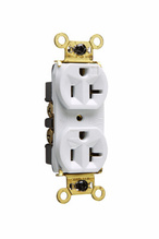 Weather-Resistant Heavy-Duty Spec Grade Receptacles, Back & Side Wire, 20A, 125V, White