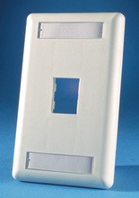 TRACJACK FACEPLATE, ONE-PORT (SINGLE GANG), PLASTIC