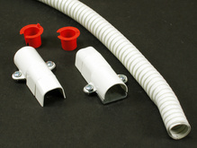 Wiremold 500/700 Series Flexible Section Fitting, Ivory