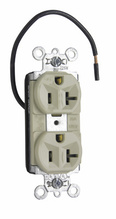 PlugTail® Split Circuit Spec Grade Receptacles, 20A, 125V, Ivory