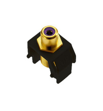 Purple RCA to F-Connector, Black