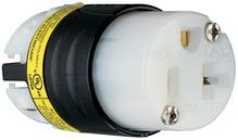 20A, 125V EHU GCM Angled Connector, Black & White