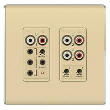 Discontinued | lyriQ Flush Mount Triple Source Input, Light Almond