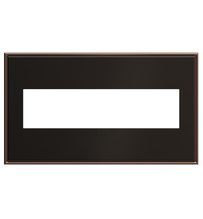 adorne® Oil-Rubbed Bronze Four-Gang Screwless Wall Plate