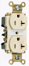 Industrial Extra Heavy-Duty Spec Grade Receptacles, Back & Side Wire, 20A, 125V, Light Almond