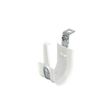 2'' White Plastic Coated J-Hook w/ Latch & 90° Angle Clip 3/8'' Rod Box of 25 [F000676]
