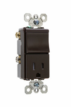 TradeMaster Tamper-Resistant Switch/Receptacle, Brown