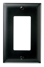 ThermoplasticOne Gang Decorator Wall Plate, Black