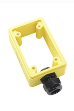 """Watertight Deep Yellow Back Box, 1"""""""" NPT Opening for Single Receptacles"""