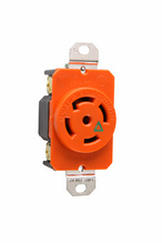 30 Amp L2130 Single Receptacle, Orange, Isolated Ground