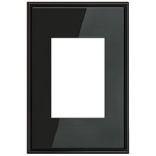 adorne® Black Nickel One-Gang-Plus Screwless Wall Plate