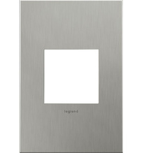 adorne® Brushed Stainless Steel One-Gang Screwless Wall Plate