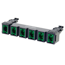 HDJ Series 6 MPO to MPO Fiber Adapter Panel, up to 144-Fiber OS2 - Green