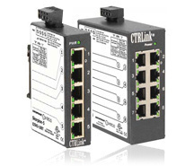 8 port Ethernet switch for LMSM, DIN mounting