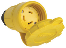 29W49 Watertight NEMA 4X/6P Locking Connector,Yellow