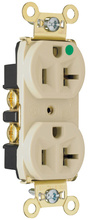Heavy-Duty Hospital Grade Receptacles, Back & Side Wire, 20A, 125V, Brown