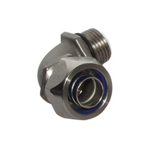 "Stainless Steel Liquid-Tight Connector, 3/4"""" 90-Degree"