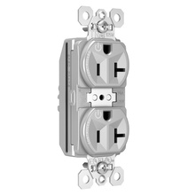 PlugTail® Tamper-Resistant Heavy-Duty Spec Grade Plug Load Controllable Receptacle, 20A, 125V, Gray