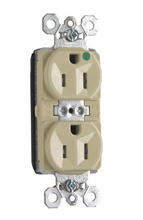 PlugTail® Tamper-Resistant Hospital Grade Receptacle, Back & Side Wire, 15A, 125V, Ivory