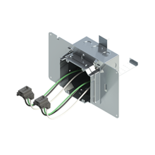 4'' Square Box with 2-Gang Adj. Plaster Ring and 2 Grounded PlugTail Receptacle Connectors with protective mud cover - Box of 10 [EF000064]