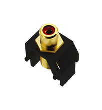 Red RCA to F-Connector, Black