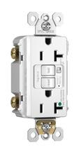 Hospital-Grade Audible Alarm Tamper-Resistant 20A Self-Test Duplex GFCI, White