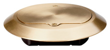Tamper-Resistant Floor Box Brass Cover