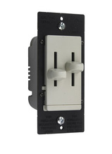LS Series Dual Fan Speed/Dimmer Control, Light Almond