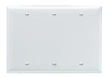 Blank Plates -- Box Mounted, Three Gang, Light Almond