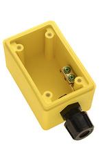 "Watertight Deep Yellow Back Box, 1/2"""" NPT Opening for Duplex Receptacles"