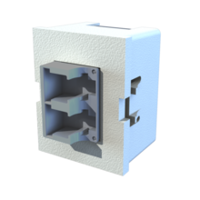 TracJack Module, Keyed Front Non-Keyed Rear LC Duplex, Ceramic Lined, MM/SM, Flush Mount, Blue