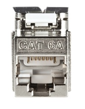 Cat6A shielded self terminating keystone jack