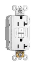 NAFTA-Compliant PlugTail® Spec-Grade 20A Self-Test Duplex GFCI, White