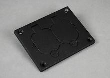 Omnibox® Rectangular Black Duplex Cover Plate
