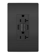 radiant® 20A Tamper-Resistant Self-Test GFCI USB Type-AA Outlet, Black