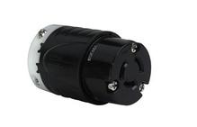 Industrial Spec Grade Turnlok 20A Non-NEMA 3-Wire Connector, Black