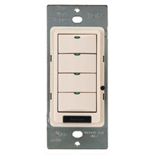 DLM 4-BUTTON PARTITION SWITCH - BLACK