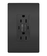 radiant® 15A Tamper-Resistant Self-Test GFCI USB Type-CC Outlet, Black