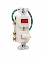 Grounding Three-Way Combination Switch & Pilot Light, White