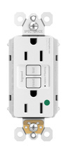 PlugTail® Hospital-Grade 15A Self-Test GFCI Receptacle, White