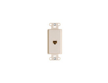 Pre-Configured 1-Port Strap, 1 RJ45, White