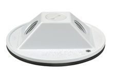 """4"""""""" Round Outdoor Cluster Cover, White"""