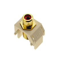 Red RCA to F-Connector, Light Almond