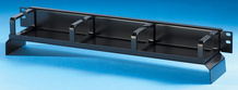 Bend Limiting Cable Management Panels - 1.7 in H x 3.5 in D rings with waterfall - 1 RU