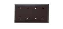 Blank Plates -- Strap Mounted, Four Gang, Brown